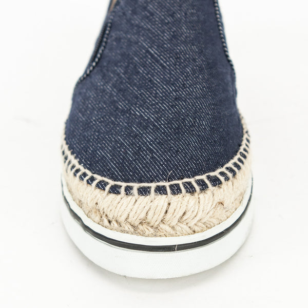 Jimmy Choo Dawn denim slip on sneakers round toe