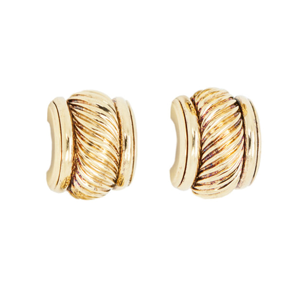 David Yurman | Gold Cable Clip-On Earrings
