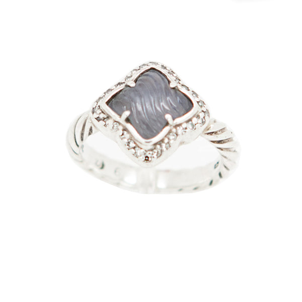 David Yurman | Chalcedony & Diamond Ring