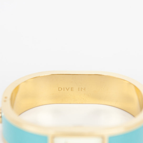 Kate Spade Dive In bangle watch stamped with Dive In