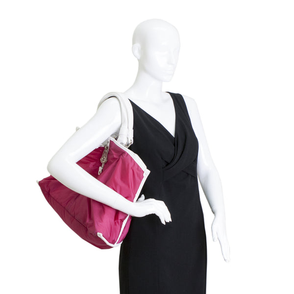 Moncler Purse Handbag Nylon Raspberry Pink