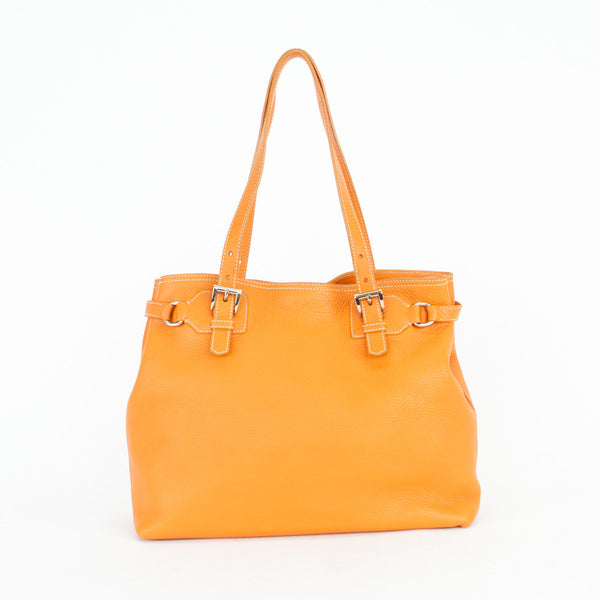 Prada | Orange Leather Handbag
