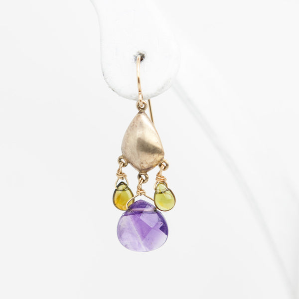 Alexis Bittar amethyst and peridot chandelier earrings