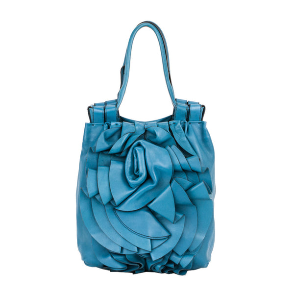 Valentino | Nappa Rose Teal Leather Handbag