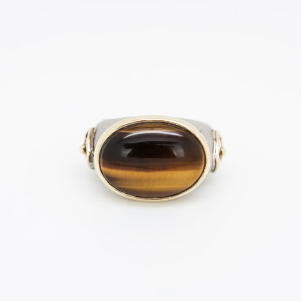 Elizabeth Showers vintage tiger eye ring