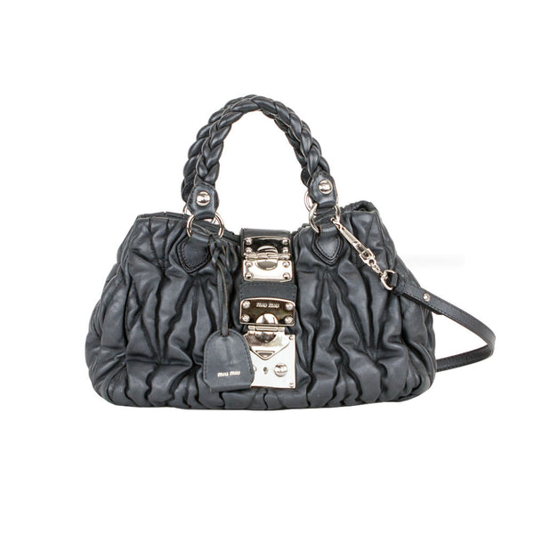 Miu Miu | Matelasse Pleated Satchel