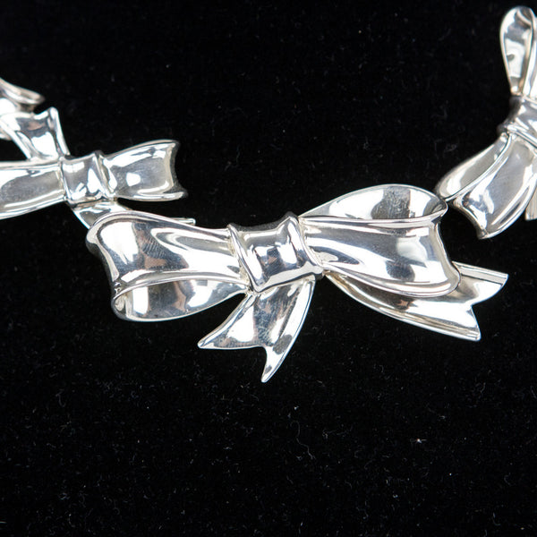 Angela Cummings sterling silver bow link necklace