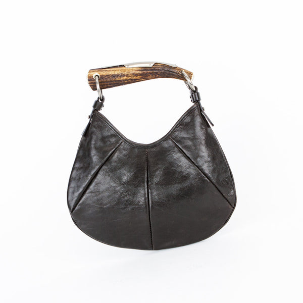 YSL | Brown Mombasa Leather Hand Bag