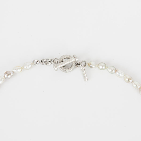 Matthew Trent baroque pearl necklace platinum toggle clasp