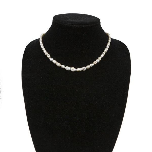 Matthew Trent graduated baroque pearl necklace
