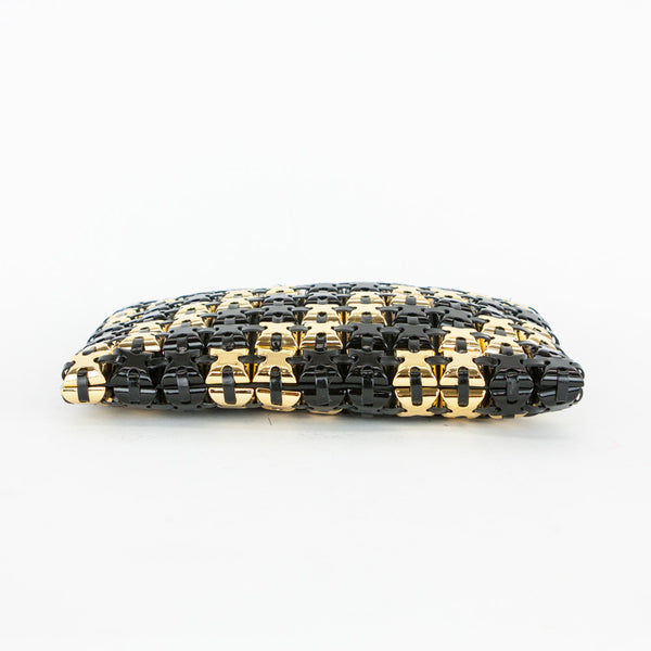 Roger Vivier black and gold clutch