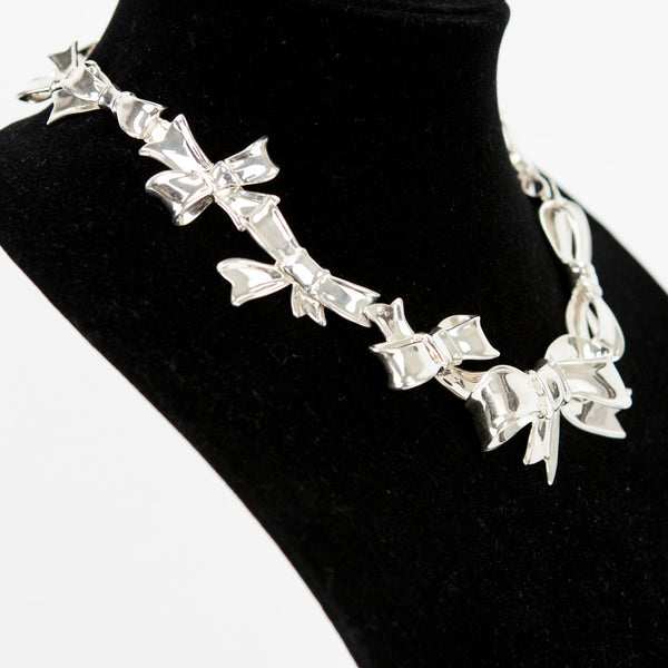 Angela Cummings sterling silver bow necklace