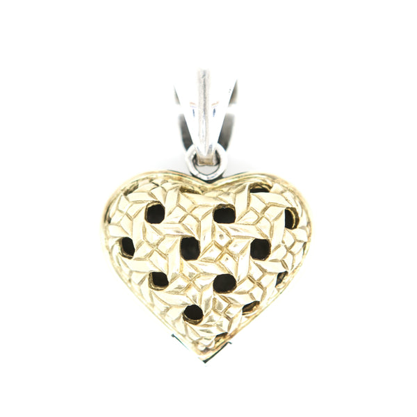 Saint By Sarah Jane two tone heart pendant