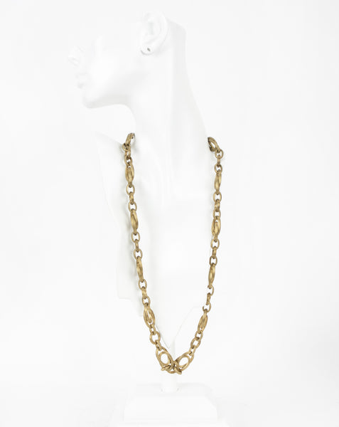 Stephen Dweck dotted cable chain link brass necklace