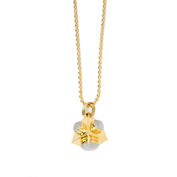 Addison Weeks | Aqua Quartz Gold Necklace