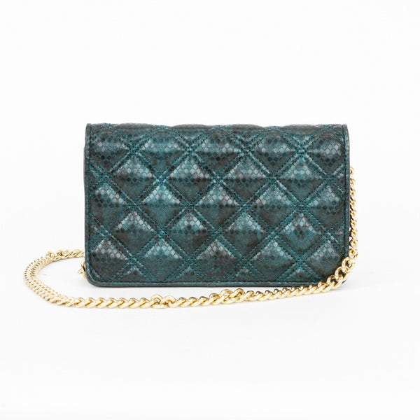 Marc Jacobs | Teal Quilted Crossbody Bag