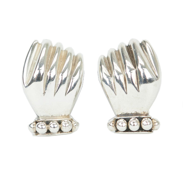 Dian Malouf | Silver Hand Earrings
