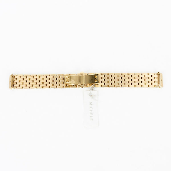 Michele Watch | Gold Tone Link Watch Strap