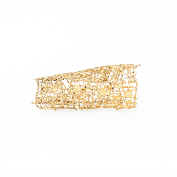 Christian Lacroix | Gold Plated Abstract Arm Cuff