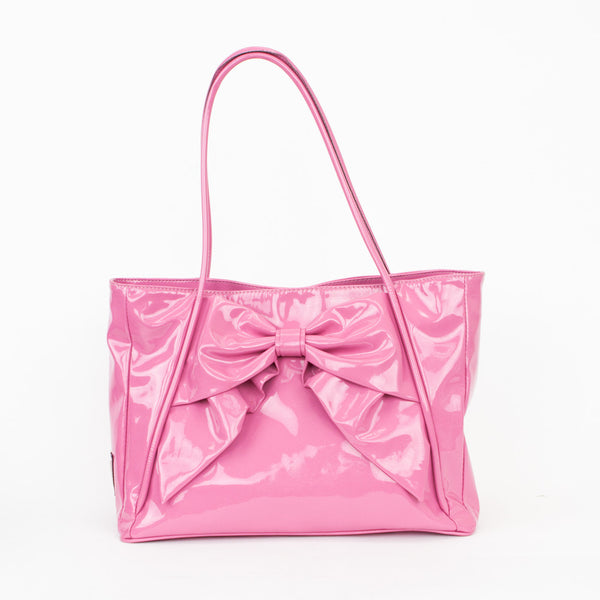 Valentino pink betty lacca bow tote
