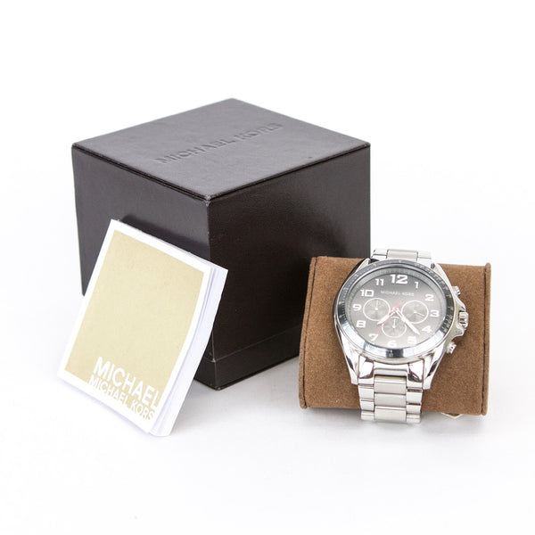 Michael Kors Bradshaw silver watch booklet included