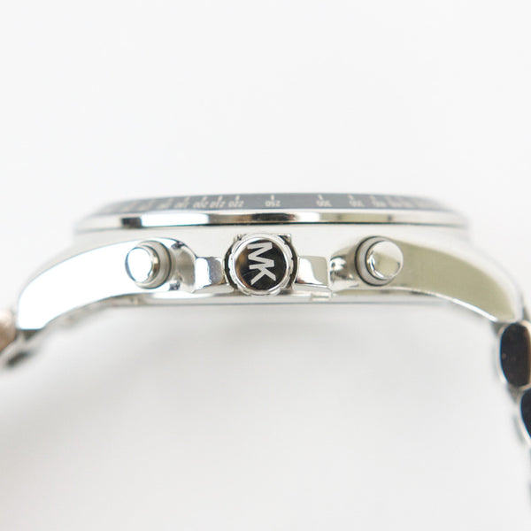 Michael Kors Bradshaw silver watch initials on the crown