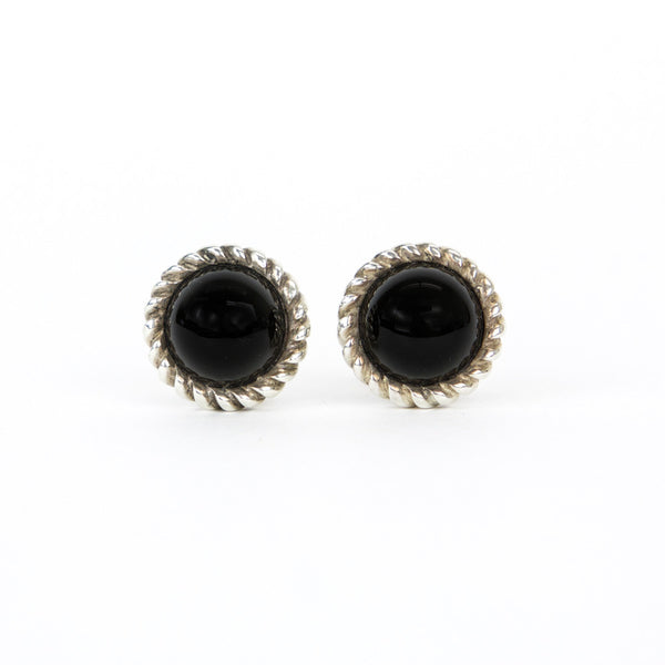 Tiffany & Co Black Onyx Clip-on Earrings