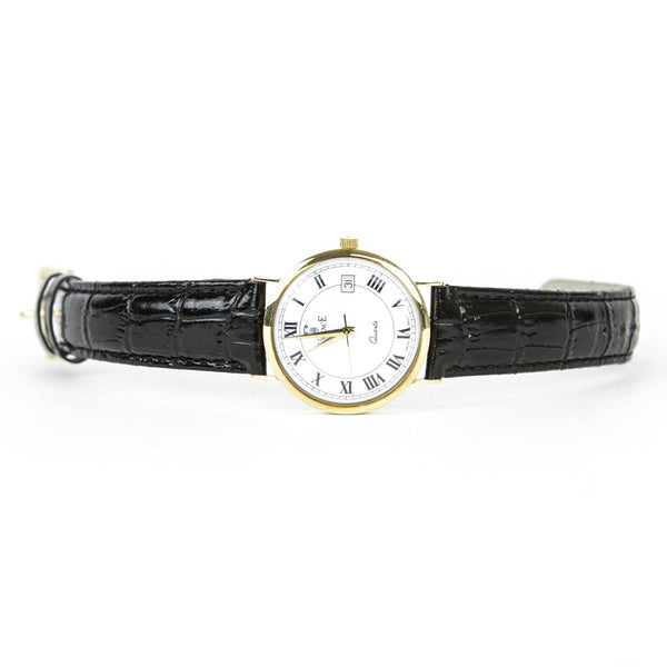 Vicence 14k Gold Black Milor Watch
