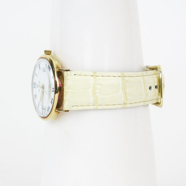 Vicence 14Kt Gold Beige Milor Watch