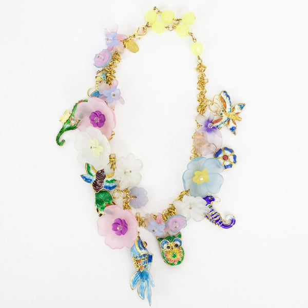 Erickson Beamon colorful charm necklace