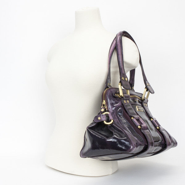 Jimmy Choo Eggplant Mahala Shoulder Bag