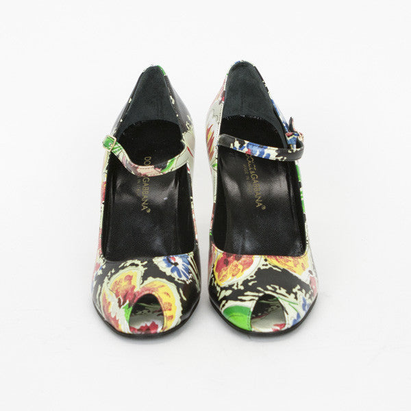 Dolce & Gabbana Multi-Colored Floral Print Leather Pumps
