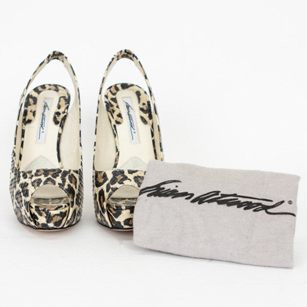 Brian Atwood | Leopard Print Snakeskin Heels