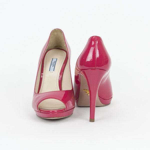 Prada fuchsia high heels made in Italy