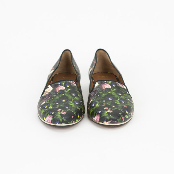 Givenchy multi- color loafers with gold trim