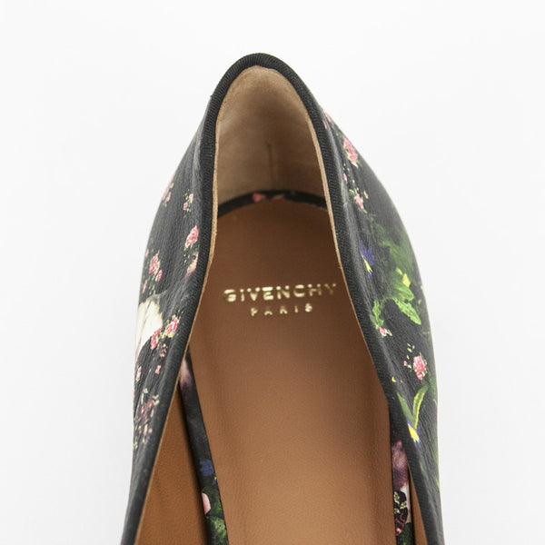 Givenchy multi- color loafers with designer name on insoles
