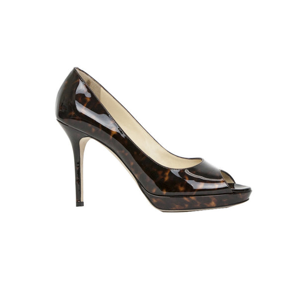 Jimmy Choo | Animal Print Patent Leather Heels