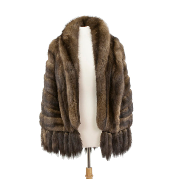 Ben Kahn | Brown Sable Fur Cape