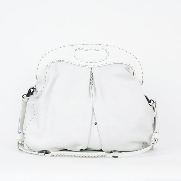 Henry Beguelin white leather tote with detachable strap