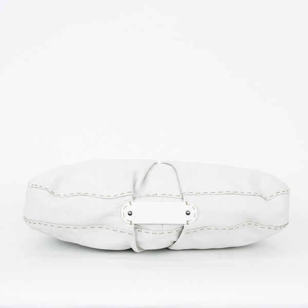 Henry Beguelin white leather handbag