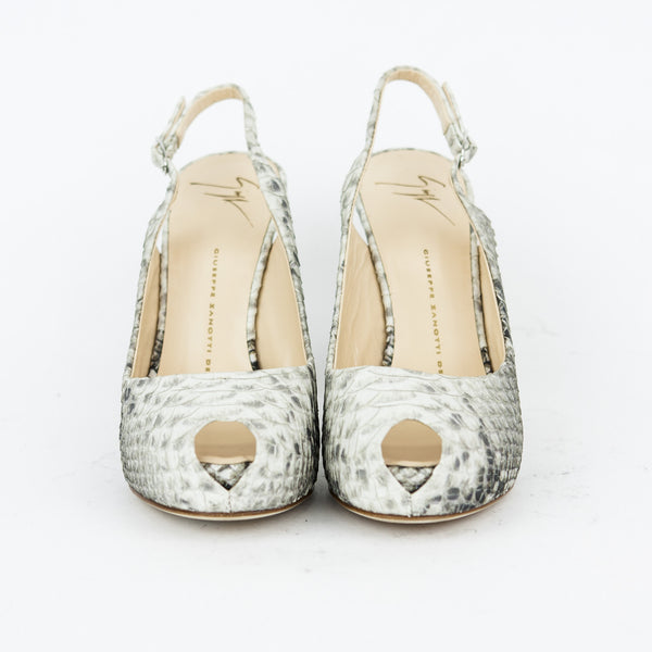Giuseppe snake skin high heels with peep toes