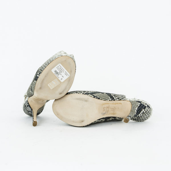 Giuseppe snake skin high heels with soft leather soles