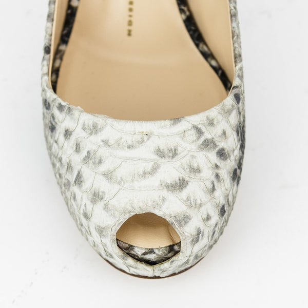 Giuseppe snake skin high heels with round toes