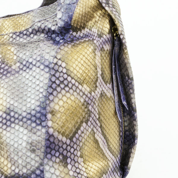 Nancy Gonzalez python handbag with two hidden exterior zip pockets
