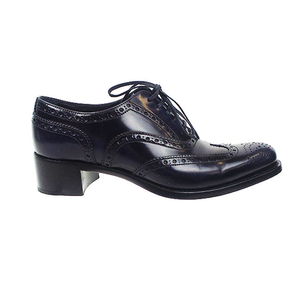 Miu Miu | Navy Laser-Cut Oxfords