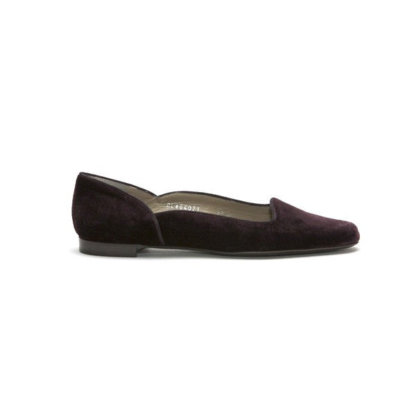 Ralph Lauren Velvet Plum Slide On Shoe