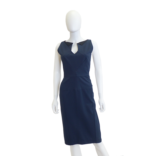 Roland Mouret | Navy Sleeveless Dress