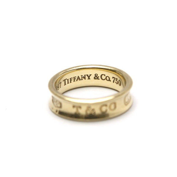 Tiffany & Co 18k Gold Ring with engraved logo