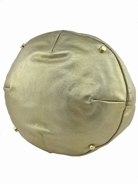 YSL Gold Bucket Bag with Gold-Tone Hardware Resale
