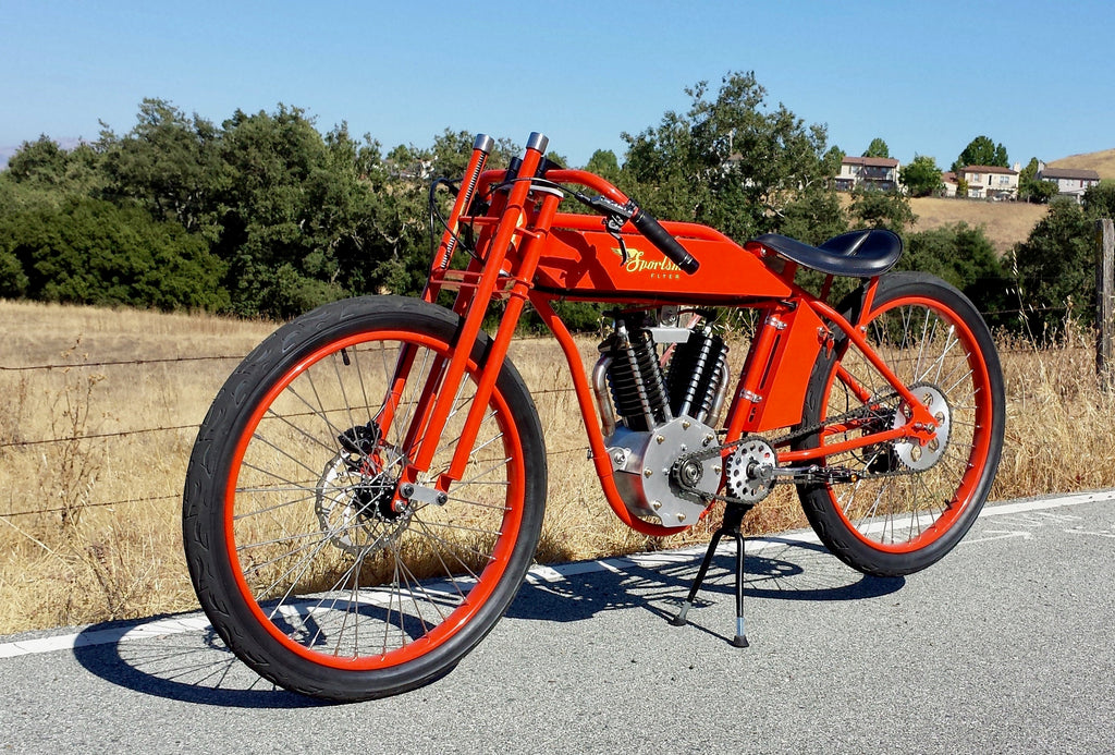 Big red electric Indian